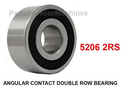 1 Angular Contact Double Row Ball Bearing 5206 2rs 30mm X 62mm X 23.8mm