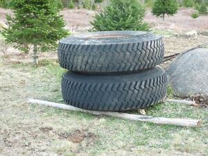 Power trailer tires and rims