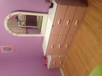 Bunk bed , double and single and nice dresser and night dresser