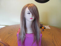 100% Human Hair Platinum Light Brown Wig $260.00