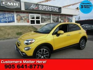 2017 Fiat 500X Trekking  AWD PANO- ROOF CAM BT ALLOYS REMOTE