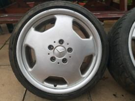 "Mercedes 18"" Amg Alloy wheels monoblocks 5x112 e c s class w124 c36"