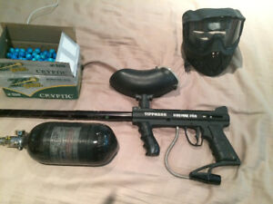 Tipman 98 custom pro. Comes with mask and 500 paintballs