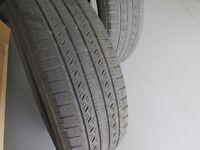 2 pneus toyo open country 225-65-17 usure entre 6/32 et 7/32
