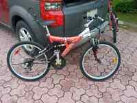 Youth full suspension mountain bike