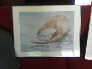 Sue Coleman Otter Print Limited Edition 112/350.