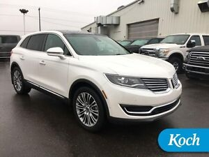 2016 Lincoln MKX RESERVE   Park Assist, Heated/Cooled Seats, 360