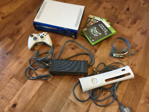 XBOX 360 game console with games and accessories