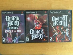 Guitar Hero 1 - 2, Guitar Hero Rock the 80 - 10$ ch