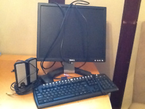 Monitor speakers keyboard mouse