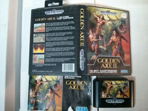 Sega Genesis video game Golden Axe 2 with manual and case $30