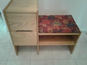 Hall Console Table with bench and mirror