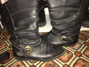 Women's leather boots size 8