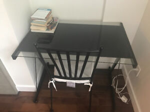 Glass top desk in good condition