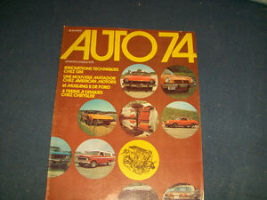 AUTO 74-LA PRESSE SUPPLEMENT-10/06/1973-GM-MUSTANG-FORD+