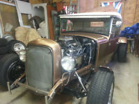 ALL STEEL 1930 FORD CONVERTIBLE 2 SEATER