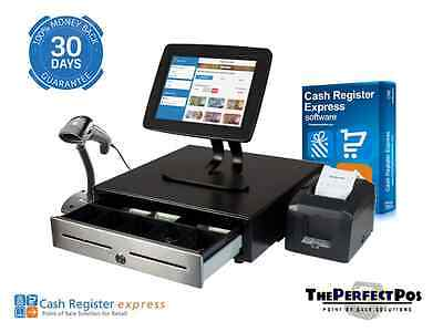Tablet Point Of Sale Bundle Featuring Cash Register Express - Bronze