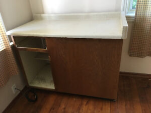 Corner Cabinet and counter.