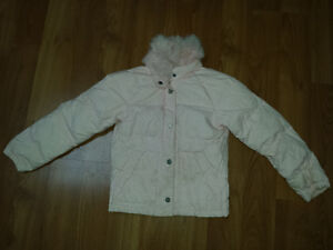 Juicy Couture Girls Winter Jacket with Crystals and Fur - Size 7