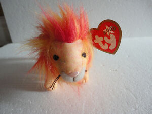 Set of 2 TY Bushy the Lion plush toy collectible Beanie baby NEW London Ontario image 4