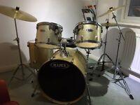 Full size Mapex Drum Kit