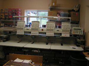 SWF 4 head 15 needle embroidery machine