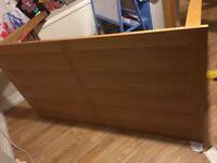 6 seat oak effect table and 4chairs