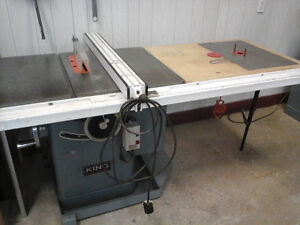 "KING INDUSTRIAL 10"" CABINET TABLE SAW 220v."