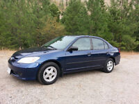 2005 HONDA CIVIC MINT!! VERY LOW KMS!!