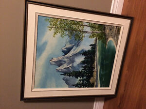Beautiful Mountain Landscape Painting for sale