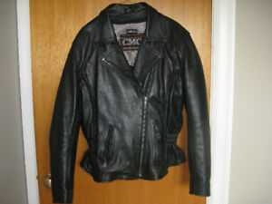 Ladies Motorcycle Leather Jacket by CMC  Size XL