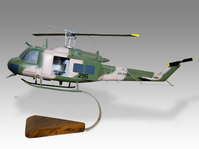 Bell UH-1H Huey RAAF Open Cabin Solid Mahogany Wood Helicopter Desktop Model for sale  Shipping to United Kingdom