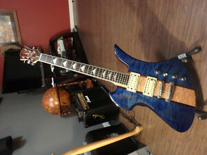 BC Rich Transparent Blue Mocking Bird