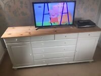 White painted sideboard