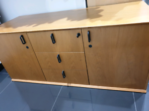 Office cabinet with keys, very good quality wood.