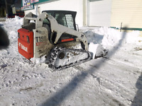 Bobcat with backet( snow removal) .I have a bobcat machine