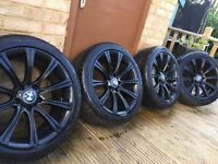 "4x BMW 5 Series 18"" M Sport alloy wheels and tyres E60 E61 E39 MV2 M5 Style"