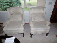 2 identical wingchairs