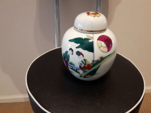 Chinese Antique/Vintage Tea Caddy/Ginger Jar painting & marked