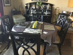 8 piece Black Lacquer dinning room suite