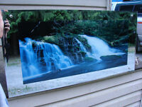MIRRORED LIGHTED WATERFALL PICTURE