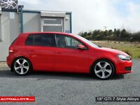 "**18"" GTI 7 Alloys & tyres for VW Golf MK5 MK6 MK7 Jetta Caddy Seat Leon Audi A3 etc**"
