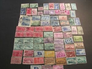 + 76 Stamps + Old USA Postage + Cancelled Stamps +