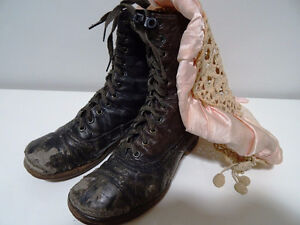 VICTORIAN child's lace-up shoes boots STEAMPUNK KIDS! Tiny Tim Cambridge Kitchener Area image 9