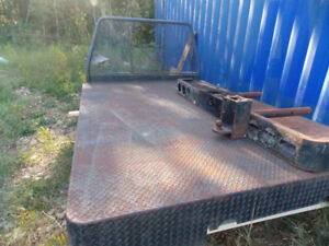 10 ft. steel deck for a 3/4 or one-ton,with; bumper, step