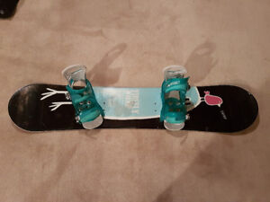 Snowboard Firefly Whoop 130cm with Burton Scribe Smalls Bindings