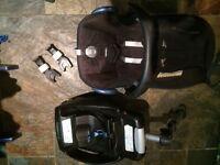 Maxicosi cabriofix, base and adapters