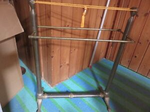UNKNOWN USE BRASS QUILT RACK? ODD FELLOWS?ASKING $95 OR BEST OFF