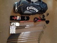 Callaway golf set with extras