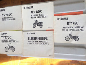 1970s Yamaha Trial Enduro Model Guide and Assembly Manuals